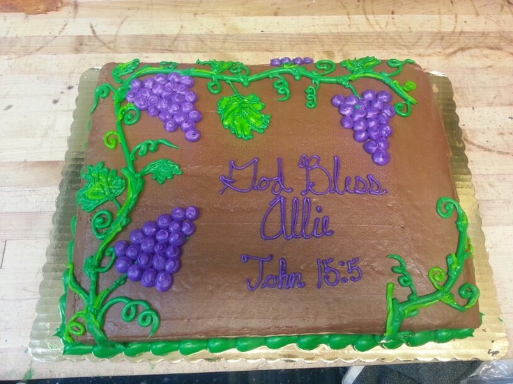 Grapes Birthday Cake