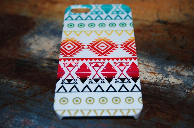Bright Color Indian Tribal Print Case For iPhone 5s / 5 / 4s / 4 Hard Plastic Rigid Pattern Cover Aztec Tribe Print Cases Printed In USA c20 by iCandyProducts on Etsy