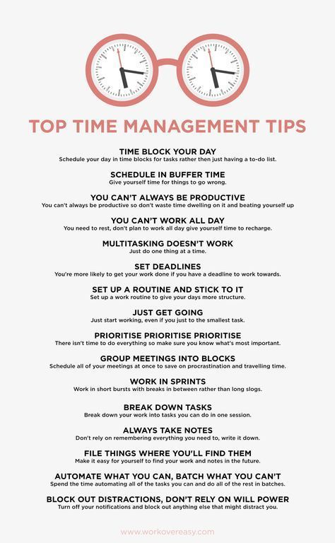 """Time Management Tips I Wish Someone Had Told Me…"