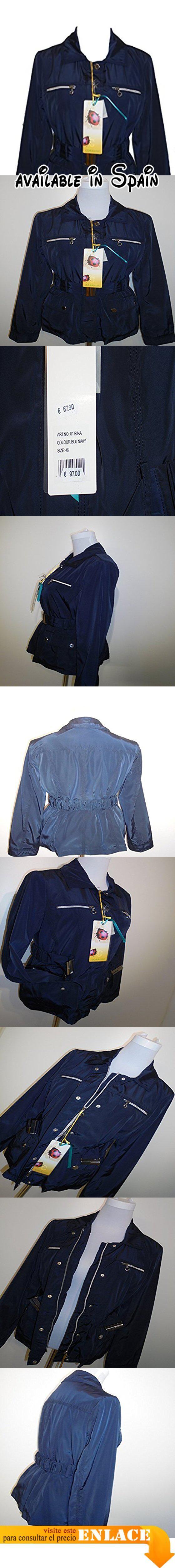 B015SWM8O0 : CORALISE - Abrigo impermeable - Manga larga - para mujer azul BLU NAVY Medium.