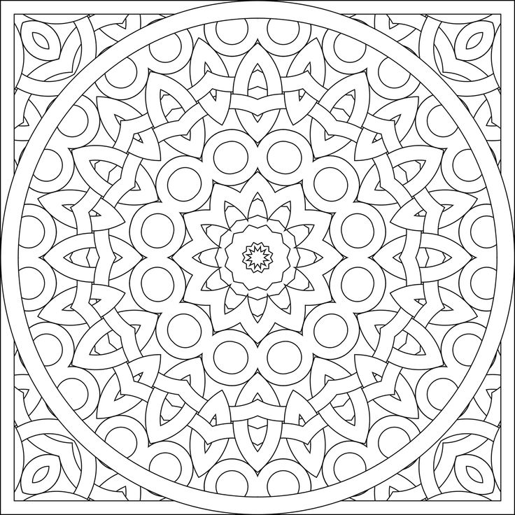 kaleidoscope coloring pages to download - photo #4