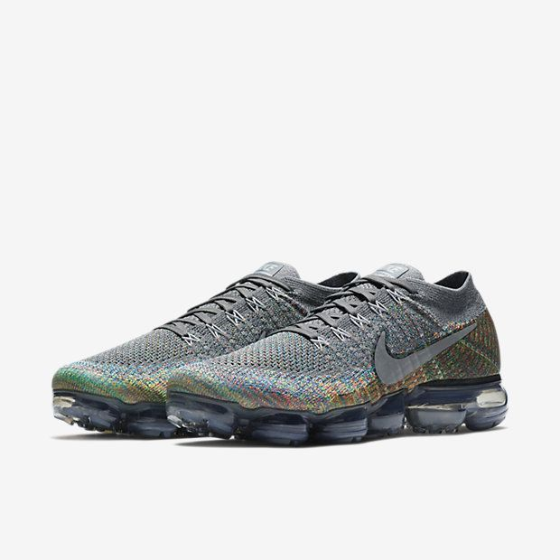 A brand new Nike Air Vapormax Flyknit Grey Multicolor arrived today! Cop or  drop?
