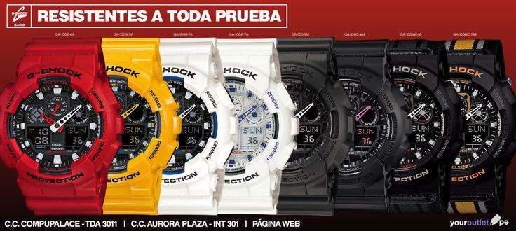 De estos G-Shock, ¿Cuál o cuáles escogerías?  Encuentra estos relojes en nuestras tiendas o visita nuestro catálogo web y realiza tu pedido en línea. Enviamos a todo el Perú.