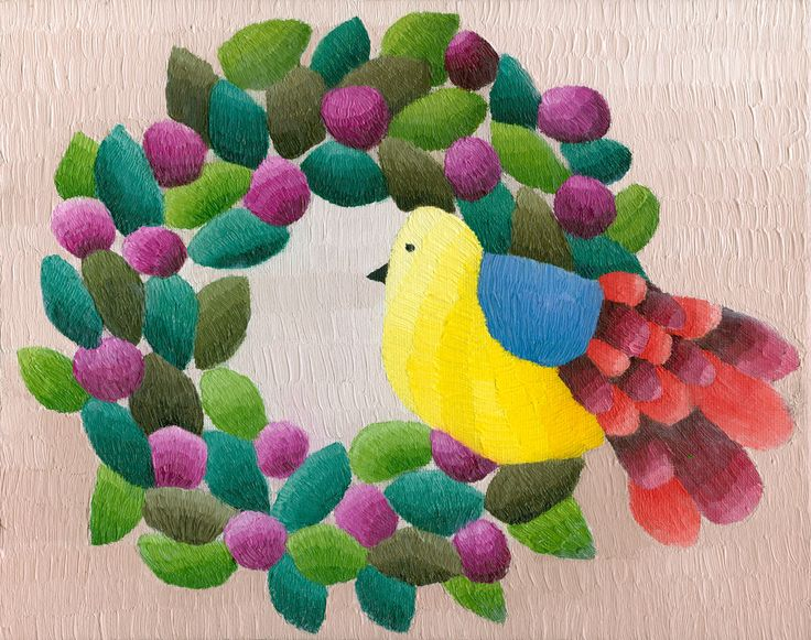 """Christmas Wreath Print by Bird and Lillypilly AUD$75.00 Free postage within Australia. Gallery Quality, Fine Art Digital Print """"Christmas Wreath"""" The image is 20 x 25 cm / 8 x 10 inches with sufficient paper around the image for framing. Print of original painting, by South Australian artist, Elisabeth Howlett: """"Christmas Wreath"""", oil on canvas board, 2014. Printed onto German Etching Paper Hahnemuhle. Limited Edition print - An edition of 50 prints. The print is unframed. Free postage…"""