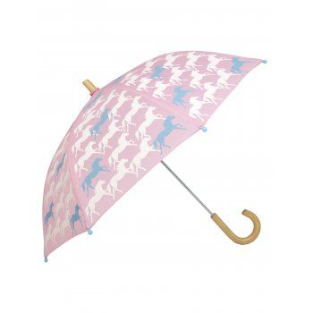Rain, rain, don't go away, Hatley children's umbrellas are here to save the day! It might be raining cats and dogs outside, but with Hatley's motto, to help children to see the bright side of grey rainy days, this little girls galloping horses umbrella will do just the trick. http://www.theumbrellashop.co.uk/kids-c29/hatley-galloping-horses-childrens-umbrella-in-pink-p406