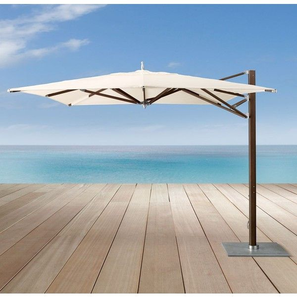 13u0027 Tuuci® Ocean Master Max Cantilever Square Java Umbrella ($9,895) ❤  Liked On Polyvore Featuring Home, Outdoors, Patio Umbrellas, Outdoor, ...