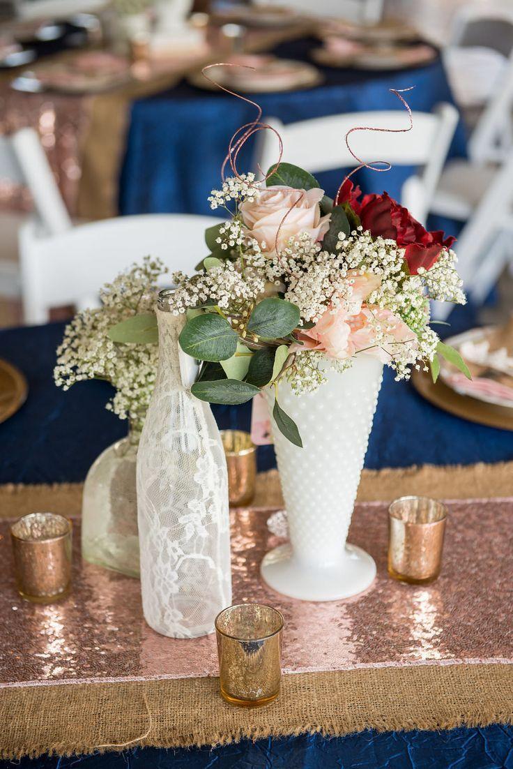 Elegant Rustic Chic Plant City Barn Wedding Rose Gold Wedding
