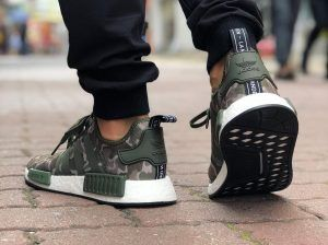 free shipping d1e37 ddbd3 Have a look at Adidas NMD R1 Duck Camo Sesame Green   Black Grey   Sole  Adidas