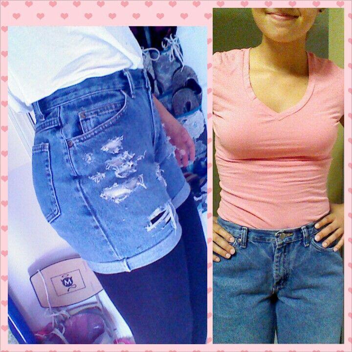 My DIY high waisted shorts! <3