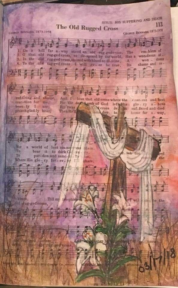 Old rugged cross | Hymn art | Pinterest | Bible, Bible art