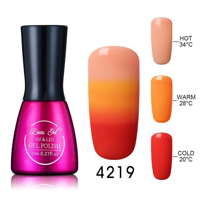 Gel varnish Nail Gel Polish Chameleon Temperature Color Changing Nail Polish