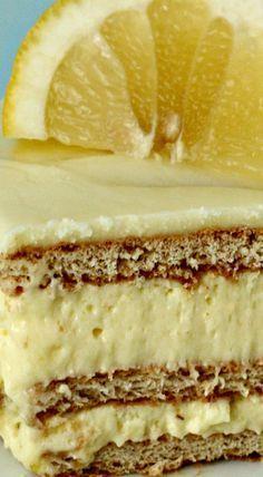 No Bake Lemon Ice Box Cake