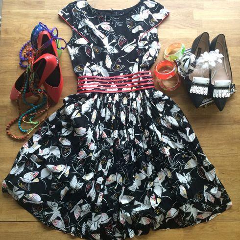 Alyssa bird print dress - $129  www.ava-design.com