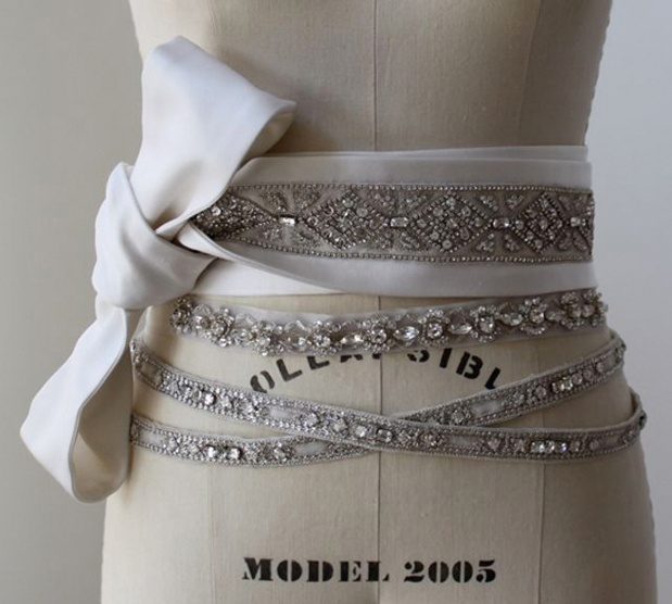 crystal wedding belts
