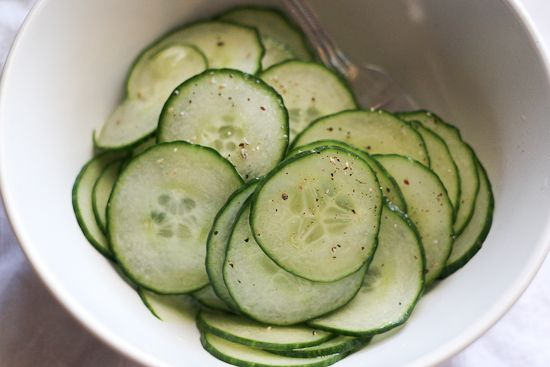 Marinated Cucumbers - www.PerrysPlate.com