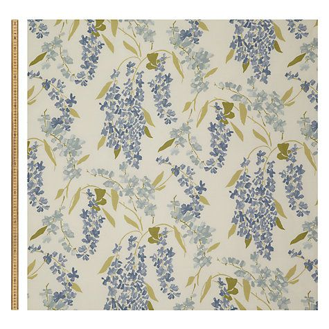 John Lewis Wisteria Fabric Putty Yellow Made To