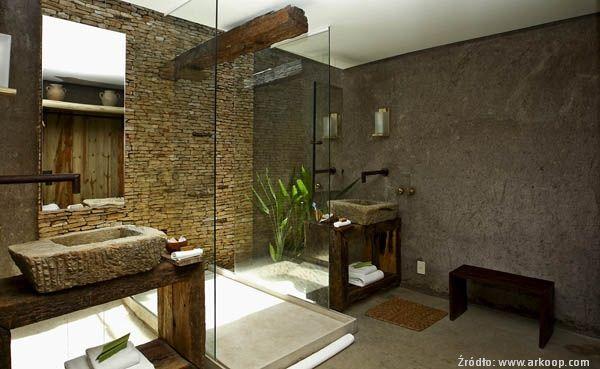 łazienka drewno kamien - Szukaj w Google