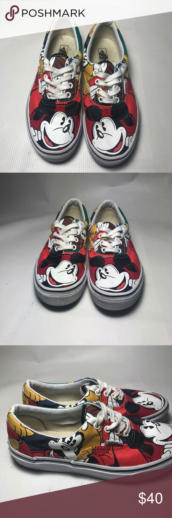 Disney Vans Amazing Vans on great condition and price !! These are perfect for boy and girl. Condition 10/10. Cleaned in and out. Vans Shoes Sneakers
