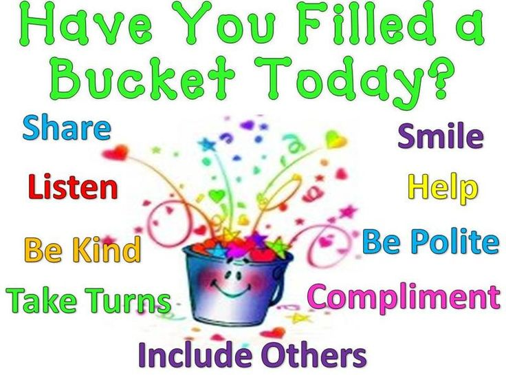 Image result for filling someone's bucket