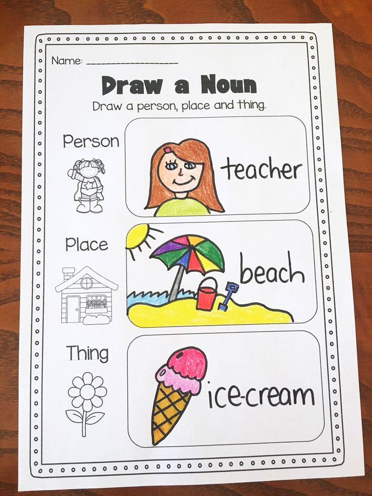 Noun Printable Worksheet. Huge Noun Pack for Kindergarten, First Grade and Second Grade.The pack covers common nouns, proper nouns, concrete nouns, abstract nouns, singular nouns, plural nouns, irregular plural nouns and pronouns.