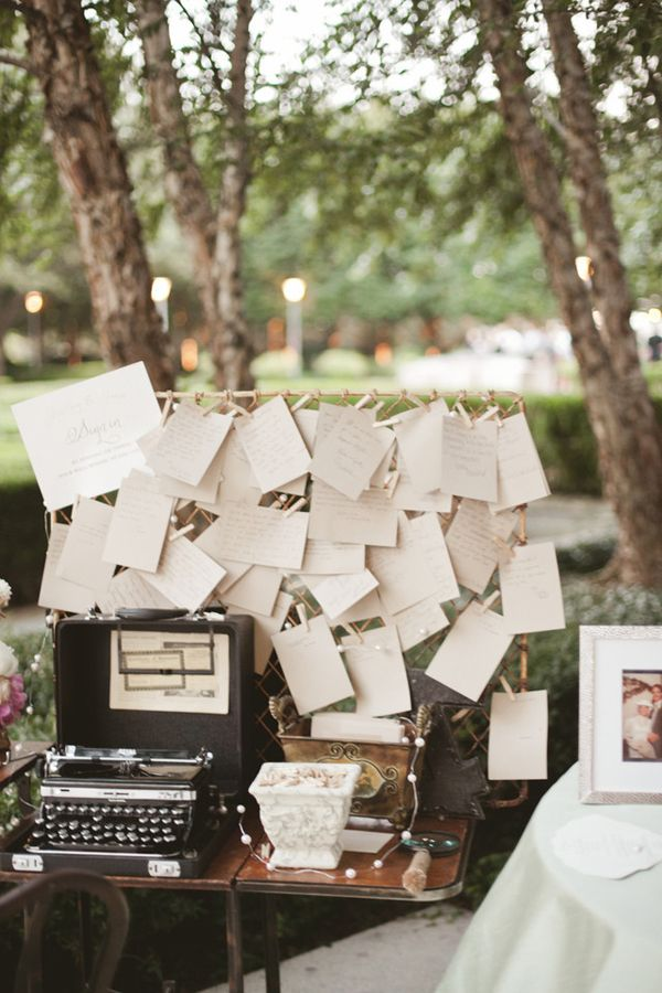 Dallas Garden Wedding- vintage typewriter and well wishes