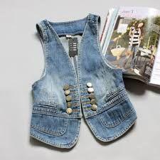 Resultado de imagen para imagenes de chalecos en jeans