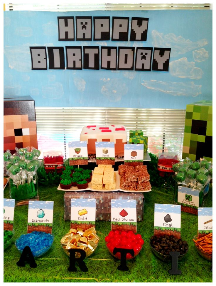 We Heart Parties: Party Information - Mine craft birthday buffet!?PartyImageID=05f66073-64c7-4a40-a1c3-5687de07d386