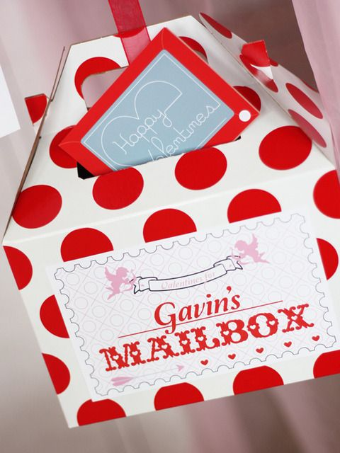 Great Valentine's Day mailbox #valentines #mailbox #red #cute.