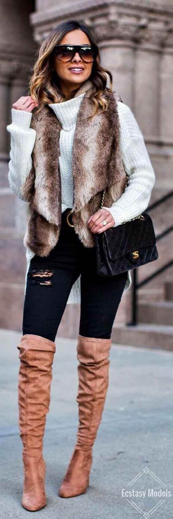 Winter Neutrals // Fashion Look by Maria Vizuete