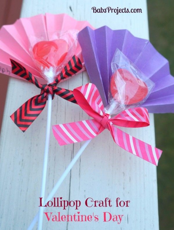 Make these fun little Lollipop Craft for Valentine's Day. You little one will thank you for it.