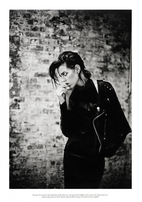 Black leather dress & black biker jacket