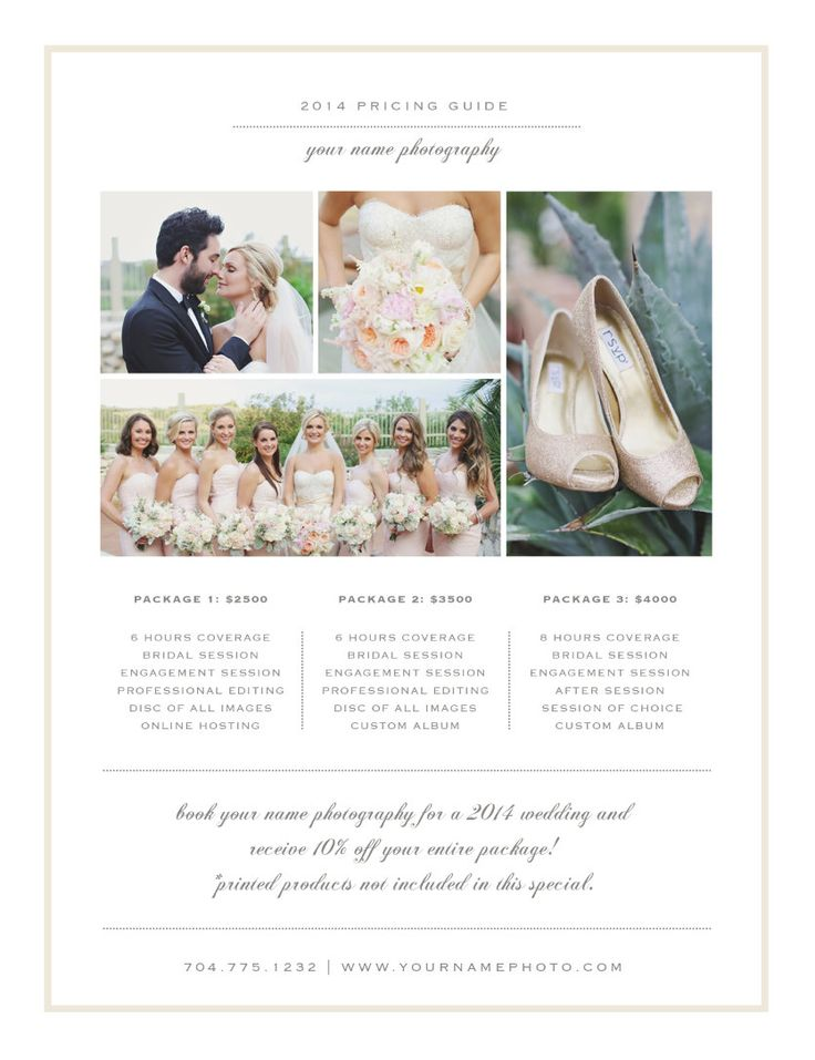 Photographer Pricing Guide Templates - Wedding Photographer Price - guide templates