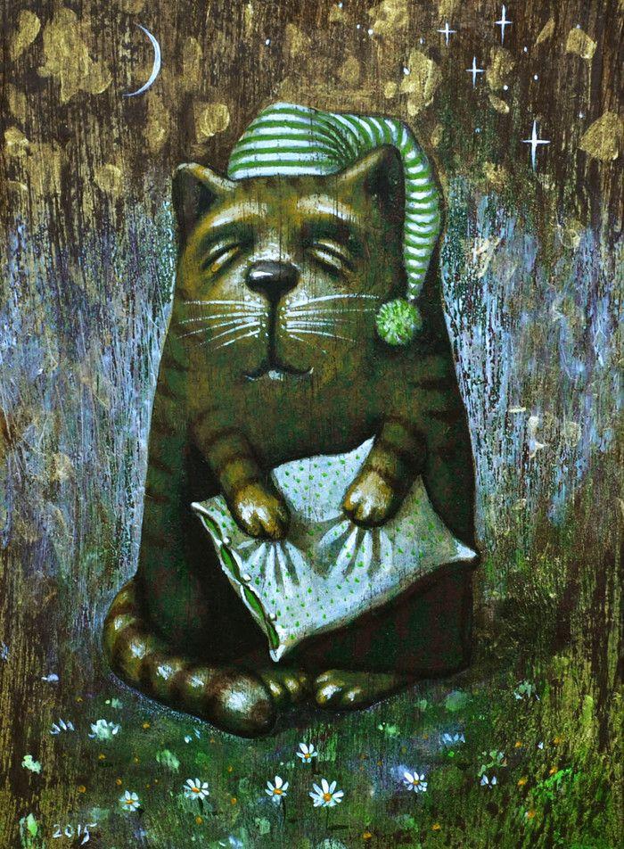Просмотреть иллюстрацию сон из сообщества русскоязычных художников автора Павел Кульша в стилях: Другое, нарисованная техниками: Акрил.
