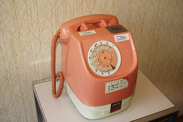Rotary Pay phone, still in use in 2005!