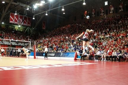 The Nebraska Coliseum: one of the most respected and storied volleyball venues in the country.