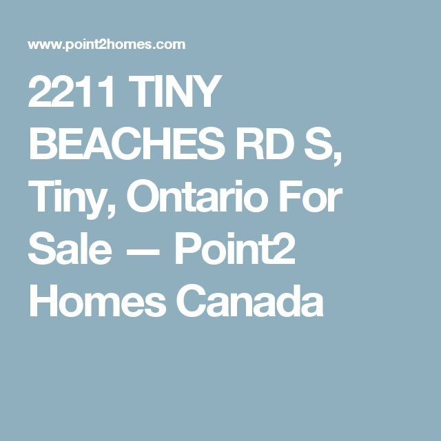 2211 TINY BEACHES RD S, Tiny, Ontario For Sale — Point2 Homes Canada