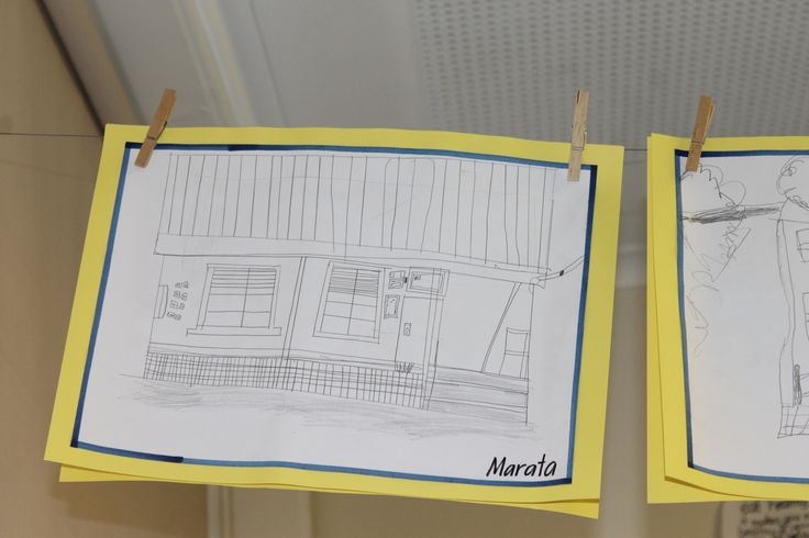 Observational drawings of old places in our school