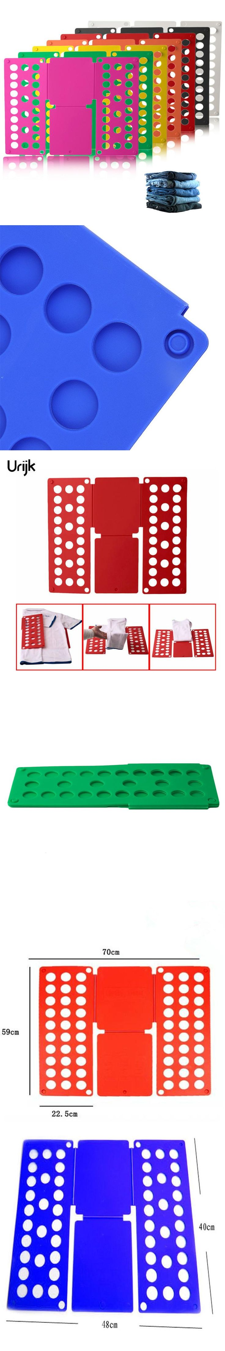 Urijk Red Practical Home Kid Clothes Adult Folder Organizer Plastic Quick T-Shirt Clothes Laundry Shirt Fold Folding Board
