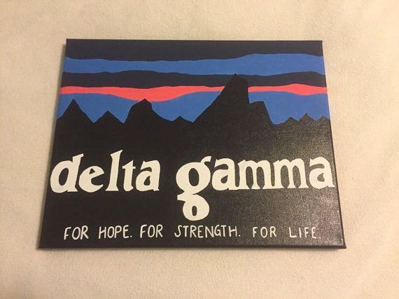 Delta Gamma Patagonia by SororityGirlCanvases on Etsy