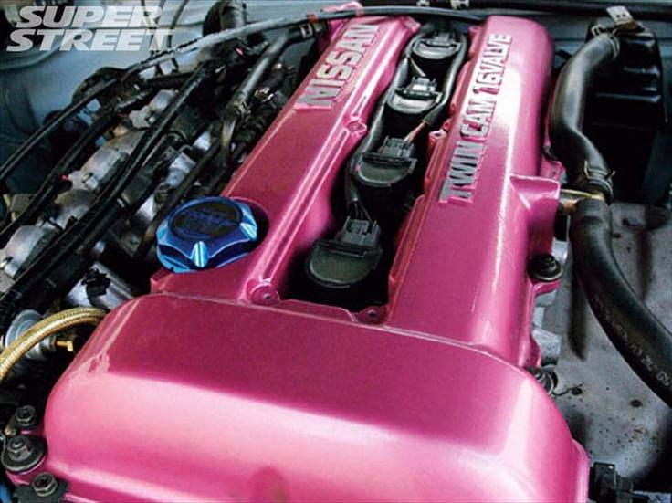 Drift 89 91 Nissan S13 240sx Sr20det Pink Engine Bay Apexi