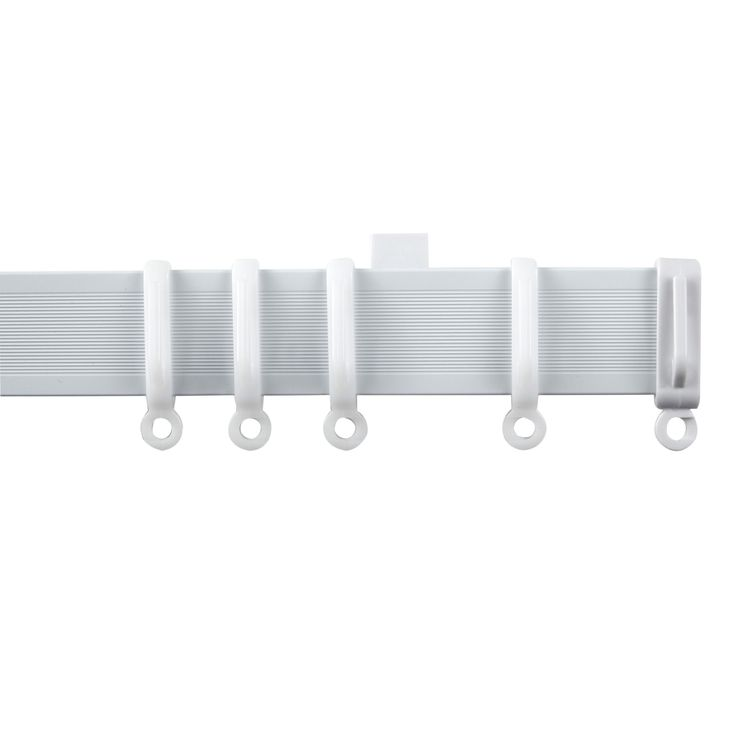 Contour White Fixed Length Curtain Track (L)460cm | Departments | DIY at B&Q