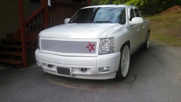 26 inch rims - white on white - Chevy silverado - love my mans truck - RBP