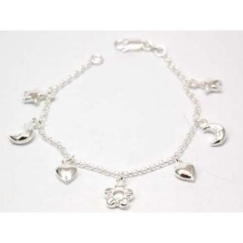 The Olivia Collection Sterling Silver Charm Bracelet