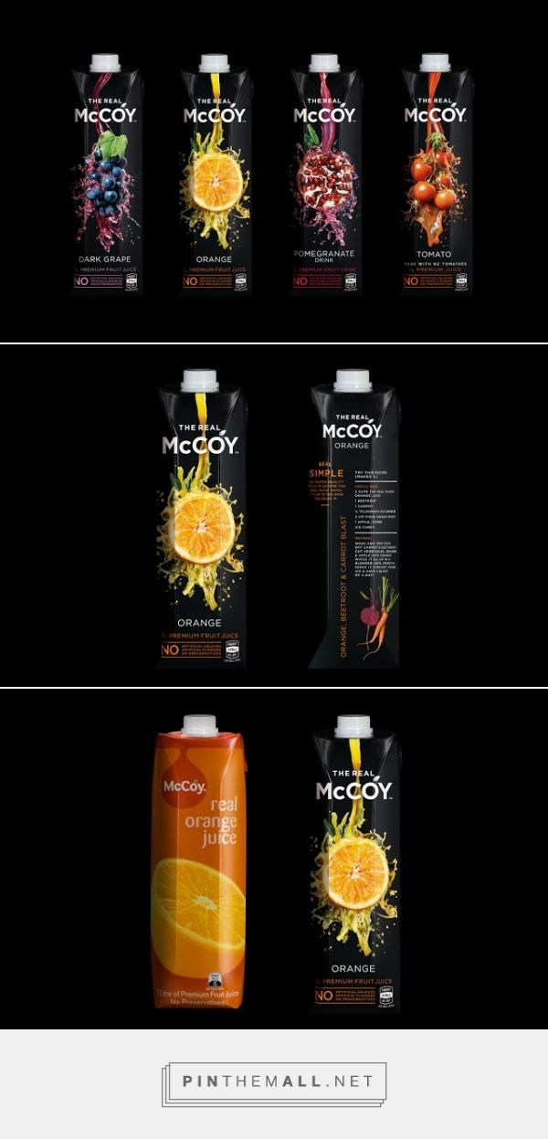 McCoy Juices Packaging designed by Dow Design​ - http://www.packagingoftheworld.com/2015/11/mccoy-juices.html
