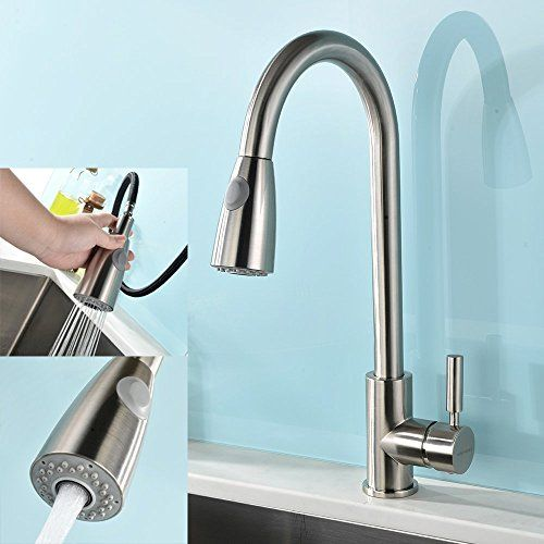 Moen CA87012BRB Pullout Spray High-Arc Kitchen Faucet with Reflex Technology from the Lindley Collection, Mediterranean Bronze