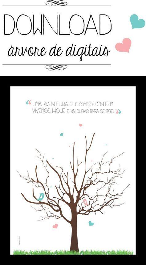 Livro de assinatura: árvore de digitais para download   http://www.blogdocasamento.com.br
