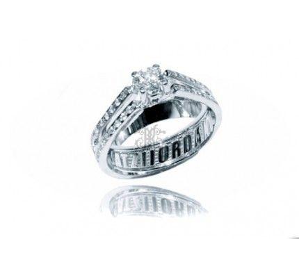Δαχτυλίδι μονόπετρο λευκόχρυσο με διαμάντι #ring #whitegold #diamond #woman #wedding #proposal #love
