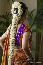 Long bridal South Indian hair with jasmine