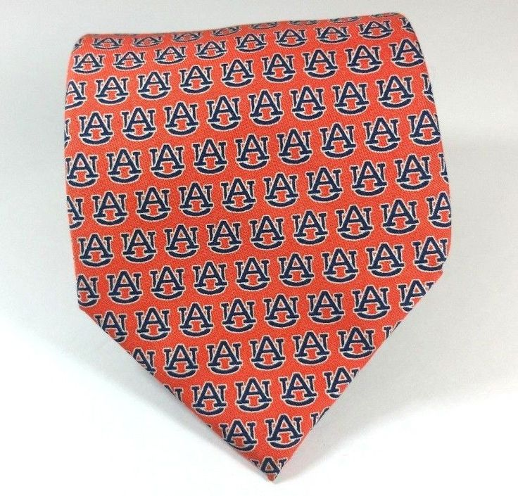 Auburn University Vineyard Vines 100% Silk Tie College Orange Blue AU Tigers  #VinyardVines #NeckTie