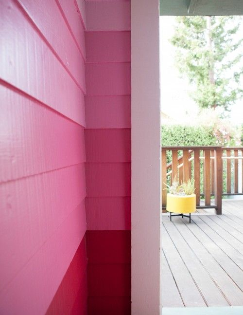 color-blocked exterior wall!